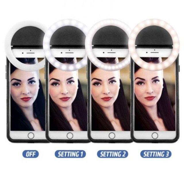 (NOVO) Luz Selfie Ring Light Clipe Anel Led Flash Celular Universal