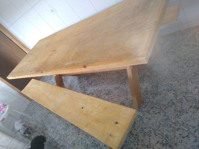 Mesa com bancos para churrasqueira - Foto 4