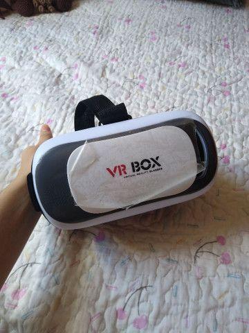 Óculos VR Box Realidade Virtual 3D Android IOS Controle Bluetooth