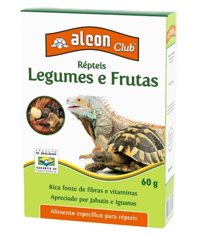 Alimento Para Répteis Alcon Frutas E Legumes 60g
