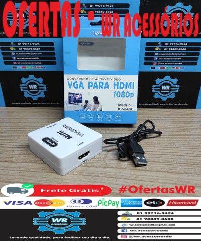 Conversor/Adaptador VGA para HDMI -ENTREGA GRÁTIS - Foto 3
