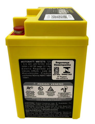 Bateria Motobatt Mbtz7s Ytz7s Crf450 Zx10r Wr250 Wr450 Xre300 Ttr230 Wr250 Pcx150 ytx5l-bs - Foto 2