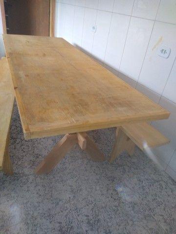 Mesa com bancos para churrasqueira - Foto 2