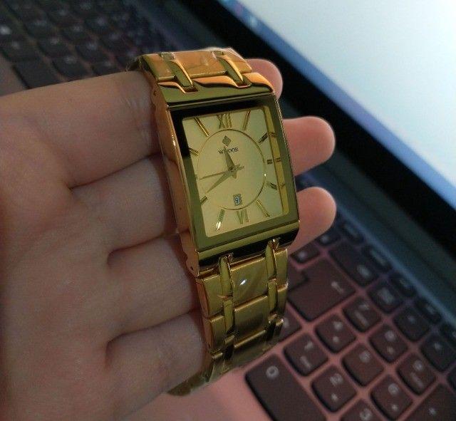 Relógio de Luxo Masculino Importado Wwoor - Aceitamos cartão - Foto 2