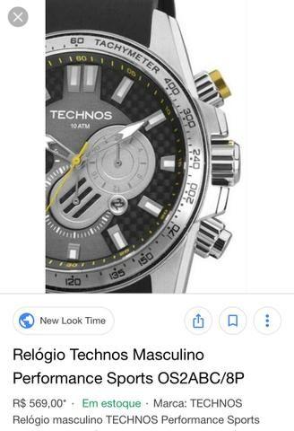 f1cb7ab6e7c Relógio techno masculino OS2ABC 8P - Bijouterias