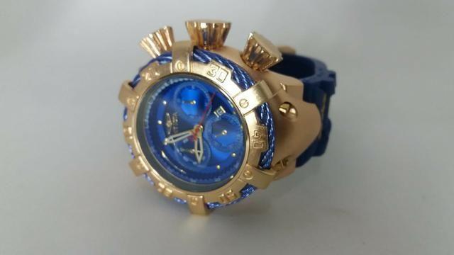 25ee19fe827 Relógio Masculino Invicta Thunderbolt Pulseir de Borracha Azul ...