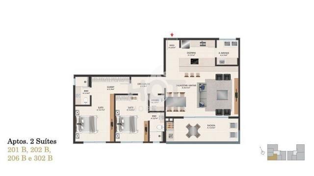 Apartamento à venda com 2 dormitórios em Novo campeche, Florianópolis cod:HI71454 - Foto 9