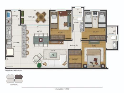 Apartamento à venda com 3 dormitórios em Jardim américa, Belo horizonte cod:18314 - Foto 5