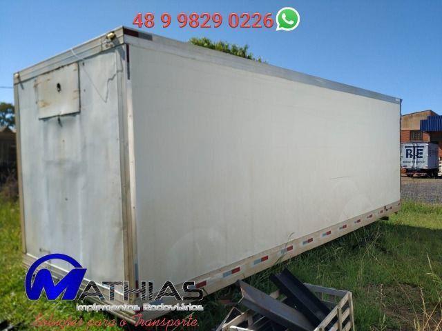 Baú frigorífico 14 paletes caminhão truck Mathias implementos - Foto 3