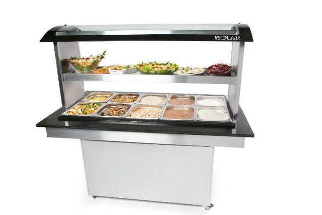 Buffet self service Polar para restaurante 10 cubas quentes 5 frias Novo Frete Grátis