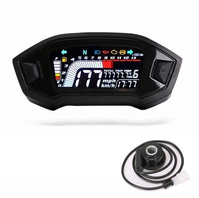 Painel digital universal para moto com sensor de velocidade  - Foto 2
