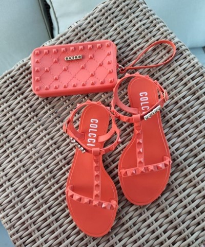 Kit sandália e carteira  - Foto 6
