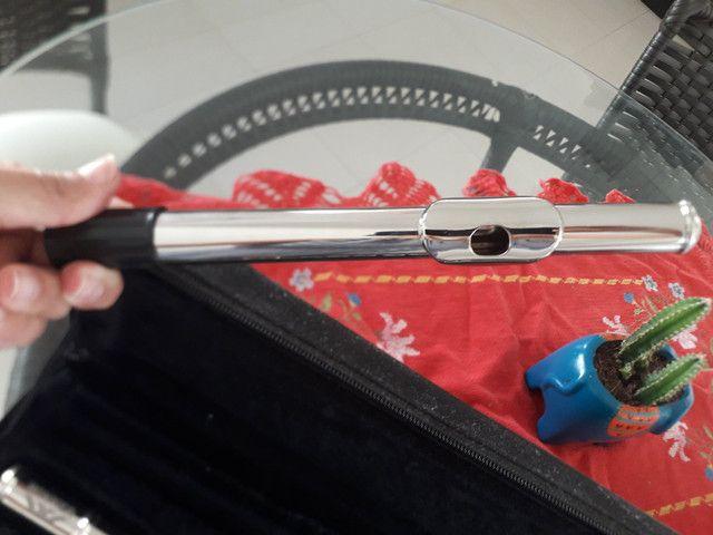 Vendo Flauta Transversa - Novinha ou troco por teclado. - Foto 6