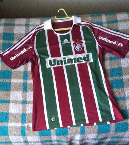 Camisa Fluminense Oficial Unimed 2009 Tamanho G Usada