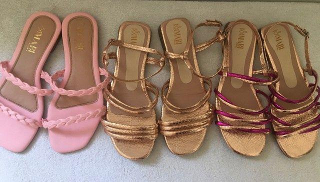 Rasteira e sandália
