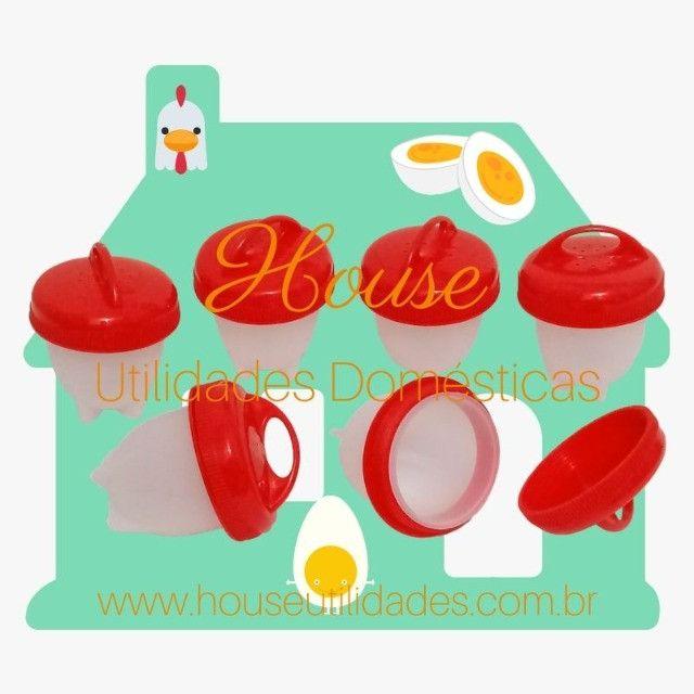 Forma de Silicone para Cozinhar Ovos Sem Casca