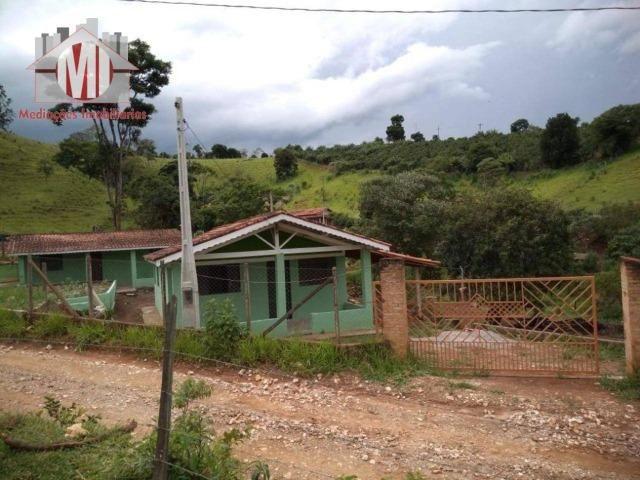 Excelente chácara com 02 casas, terreno plano, 1800 metros, perto do asfalto e linda vista - Foto 13