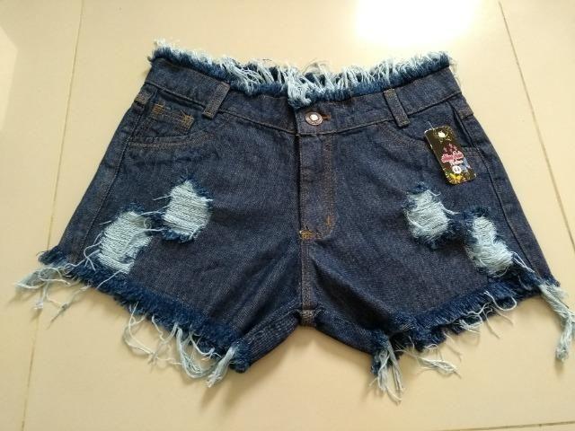 Short Jeans Feminino Alicia com elastano, numeração 36, 38, 40, 42 e 44 - Foto 5