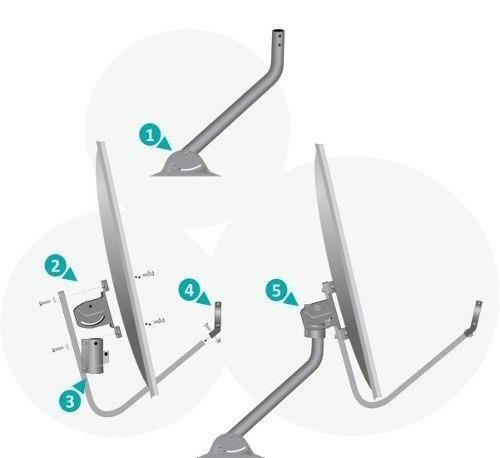2 Antena Banda Ku 60cm + 2 Lnbf Duplo Incluso - Foto 3
