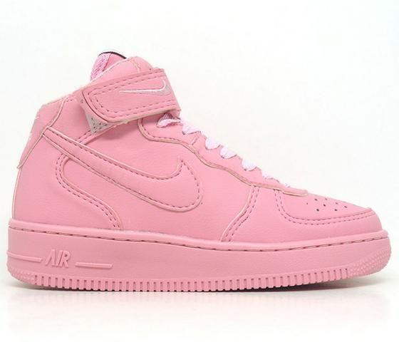 Tênis Feminino Nike Air Force 1 Mid 07 Rosa - Roupas e calçados ... 77bc8b26aac02