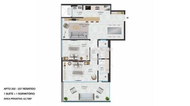 Apartamento à venda com 2 dormitórios em Jurerê internacional, Florianópolis cod:HI71464 - Foto 9