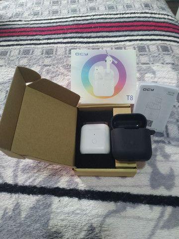 QCY T8 TWS  - Fone Bluetooth + Capa Emborrachada - Foto 3