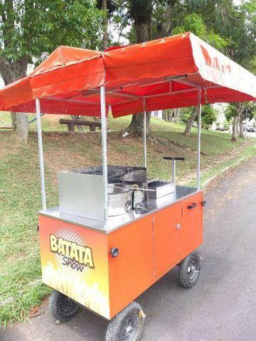 Carrinho pra batatinha frita personalizado novo completo  - Foto 4