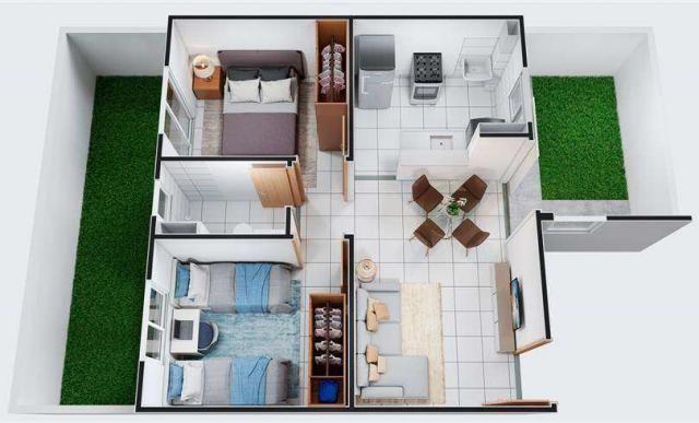 Chapada das Safiras - Apartamento 2 quartos em Cuiabá, MT - 39m² - ID4020 - Foto 8