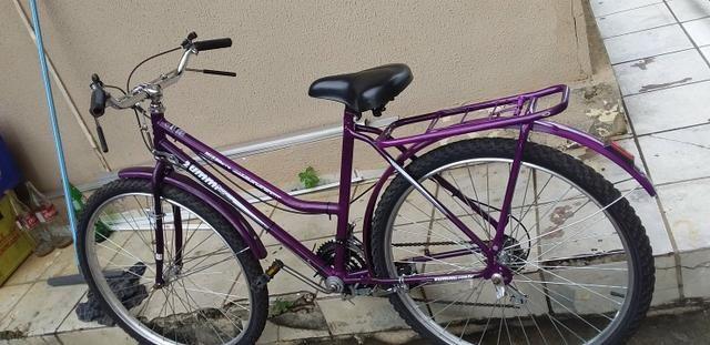 Vendo uma bicicleta nova com Macha hi garupa - Foto 2