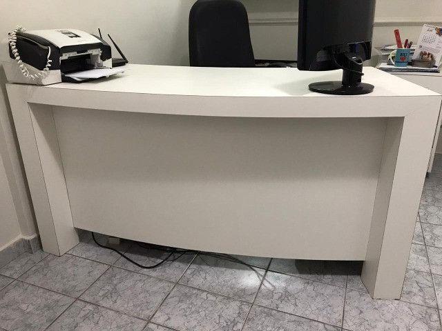 Mesa de Computador para Escritório Branca