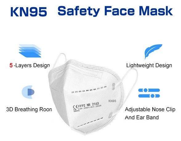 Máscara KN95 Ffp2 - Pacote com 10 unidades - Foto 4