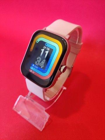 Lançamento Relógio/Smartwatch Colmi P8 Plus > Cor Disponivel: Rosa / Azul / Dourado - Foto 2