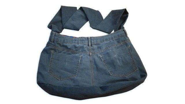 Bolsa Jeans Artesanal - Foto 3