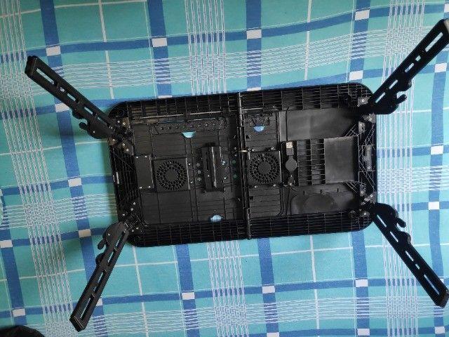 Mesa/suporte p/ notebook com 2 cooler, dobrável - Mesa Note - Foto 4