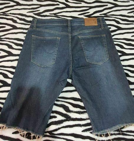 Bermuda jeans masculina tam 42 - Foto 2
