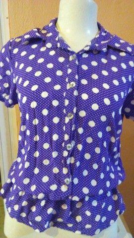 Seis blusas femininas e uma bolsa - Foto 6