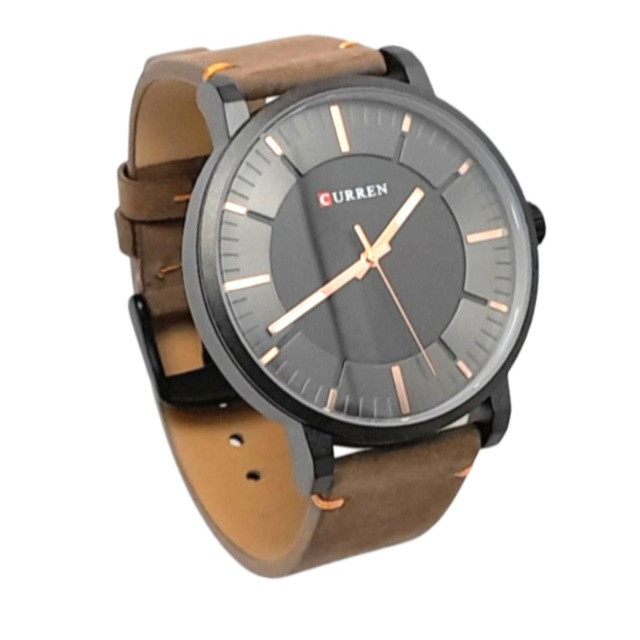 Relógio Masculino Marca: Curren 8332 marron com preto resistente á água
