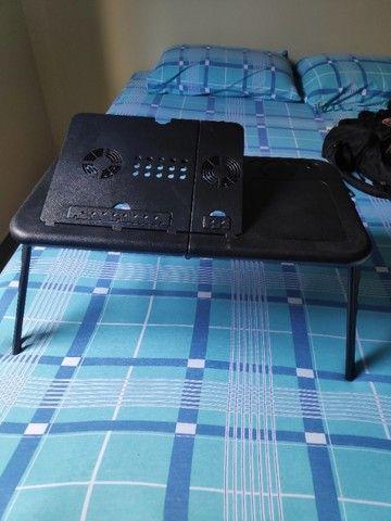Mesa/suporte p/ notebook com 2 cooler, dobrável - Mesa Note - Foto 2