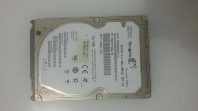 HD de Notebook 500gb seagate