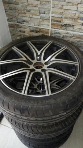 Aros 18 ,5x100 com pneus novos