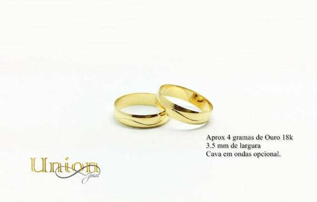 492832ff98b Preço Imperdível . Aliança de Noivado ou Casamento Ouro 18k 750 ...