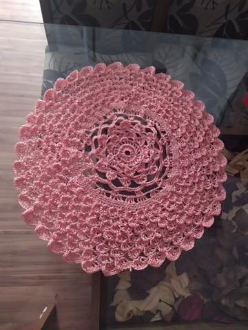 Toalha de crochê centro de mesa