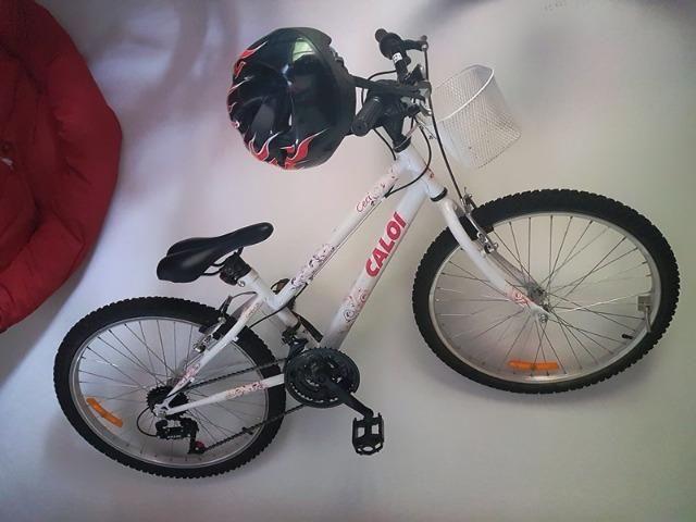 Bicicleta Infantil Aro 24 21 Marchas Caloi Ceci - Branca Freio V-Brake 3300c1b116559