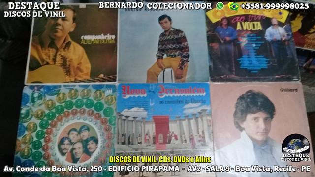 Visite-nos Sem Compromisso, Discos de Vinil, CDs e DVDs - Destaque Discos de Vinil - Foto 2
