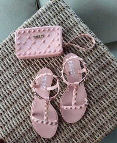 Kit sandália e carteira  - Foto 5