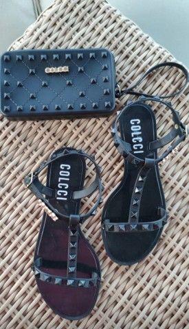 Kit sandália e carteira  - Foto 2