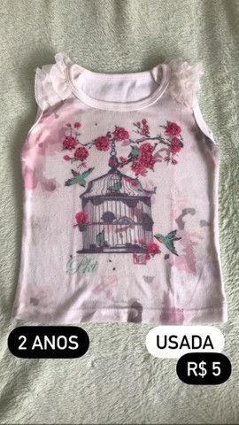 Blusas menina simples (0 a 6 anos) - Foto 3