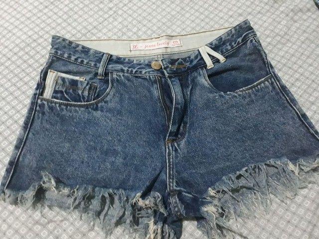Shorts jeans tamanho 38  - Foto 3