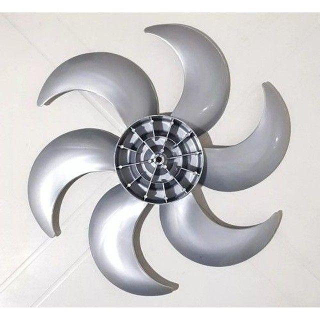 Helice Ventilador Mallory 6 Pás Turbo 40cm Prata - Foto 2