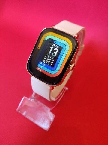 Lançamento Relógio/Smartwatch Colmi P8 Plus > Cor Disponivel: Rosa / Azul / Dourado - Foto 6